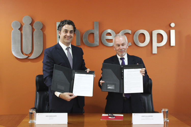 Indecopi y la Cámara Peruana del Libro suscribieron convenio para fortalecer derechos de autor y protección al consumidor en el sector editorial